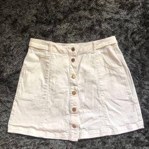 Jolt Button Up Khaki Mini Skirt